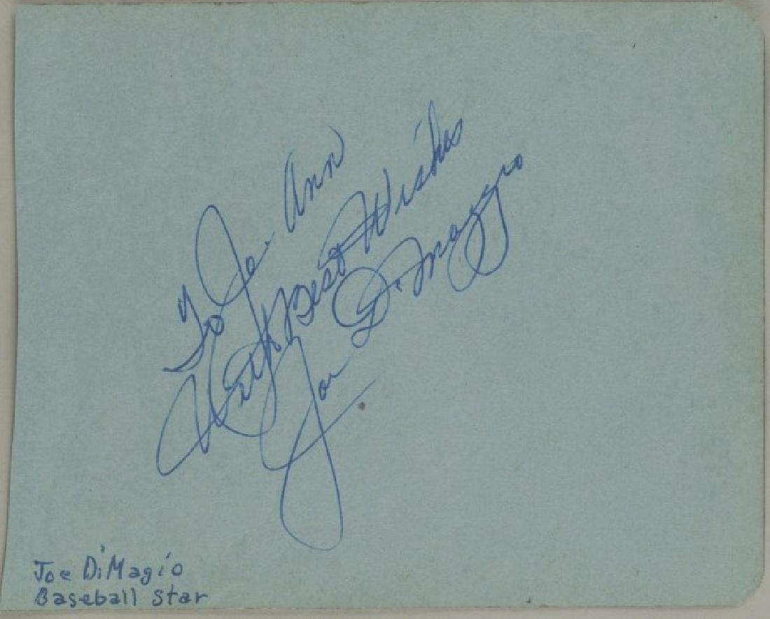 Joe Dimaggio Signature w/ COA & Photo - 3