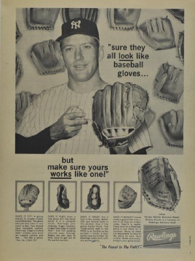 Mickey Mantle Rawlings Advertisement