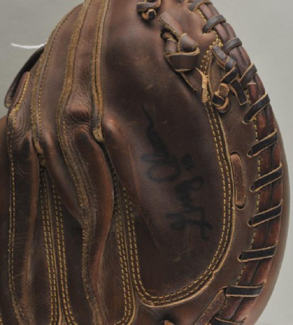 Signed Game Used Greg Olson Baseball Glove - 2