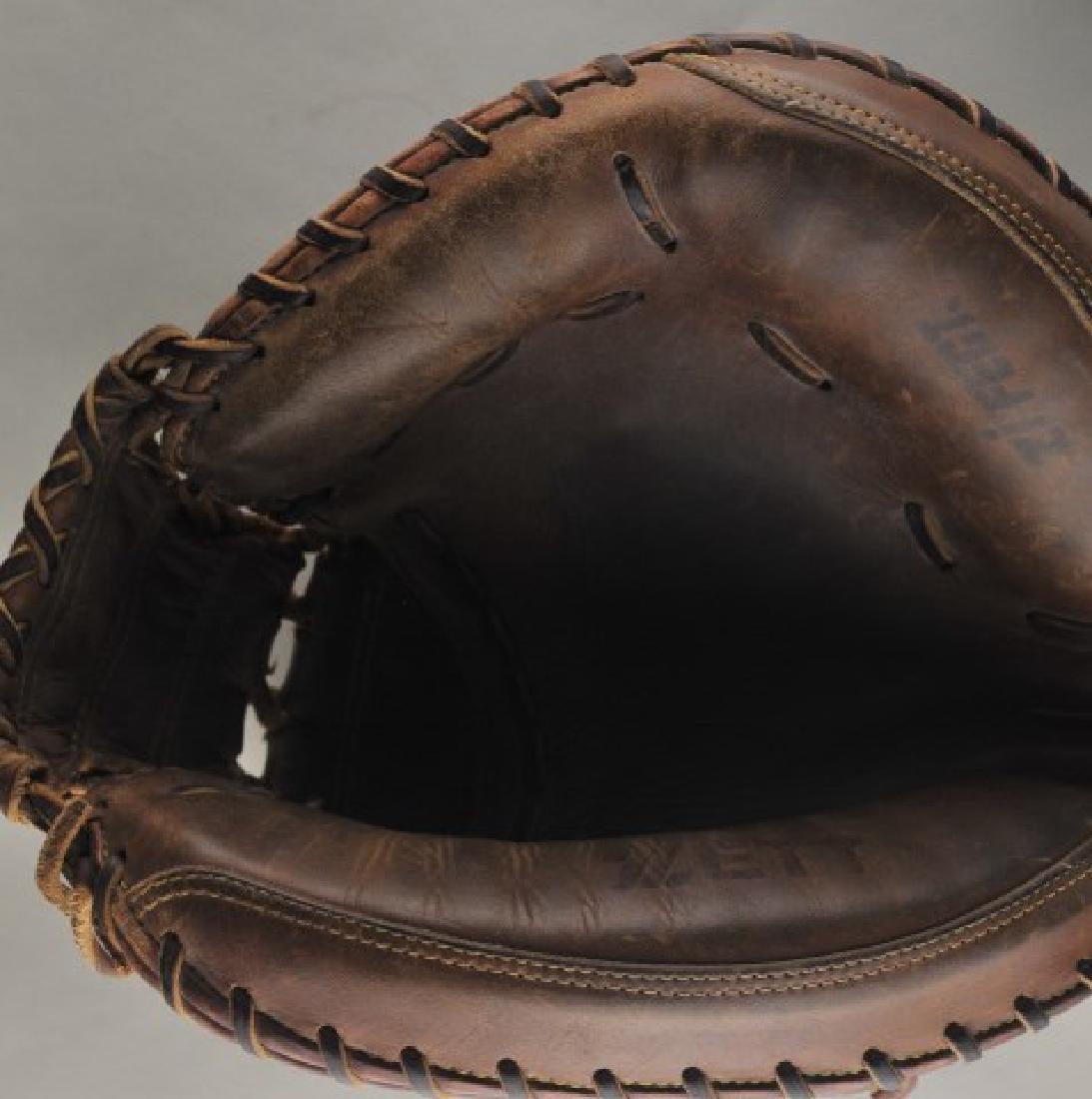 Signed Game Used Greg Olson Baseball Glove - 4