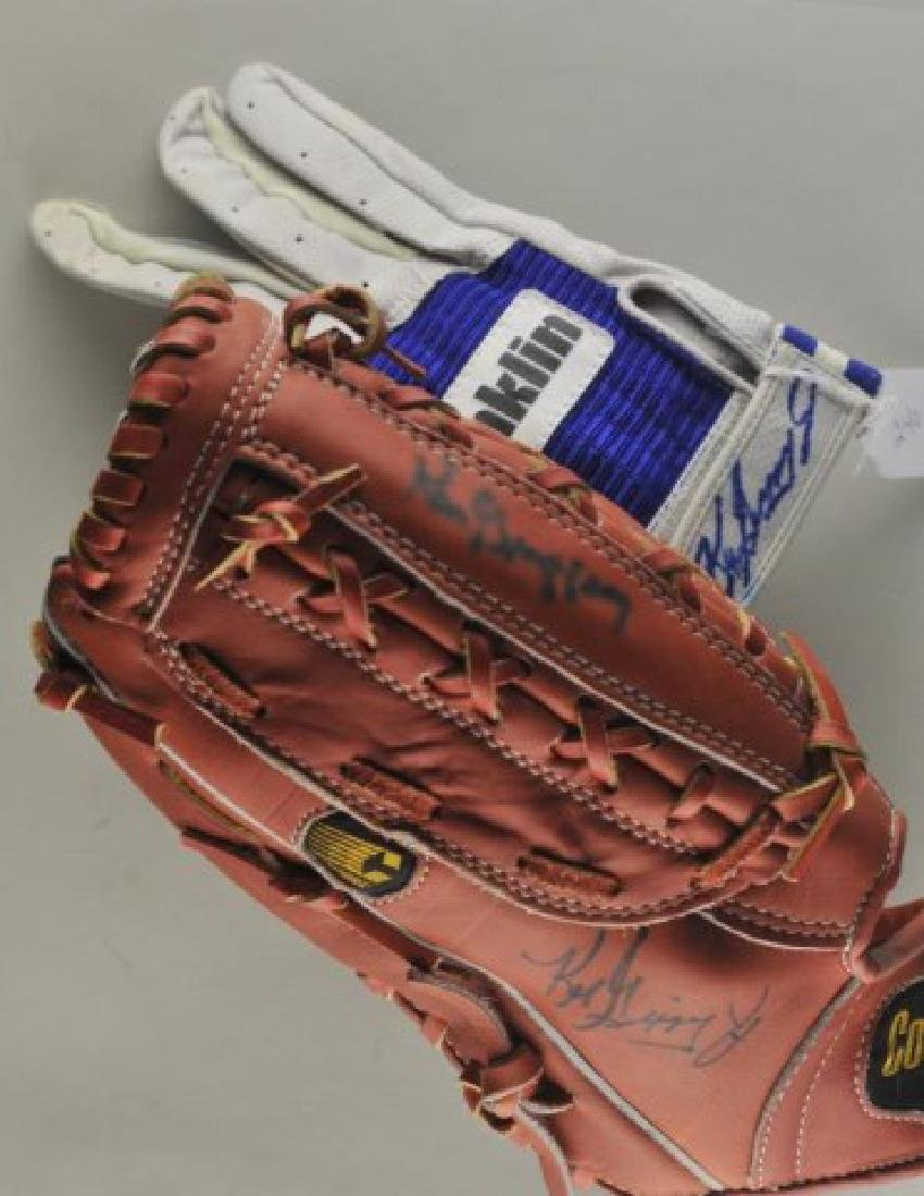 Signed Ken Griffey & Ken Griffey Jr. Gloves