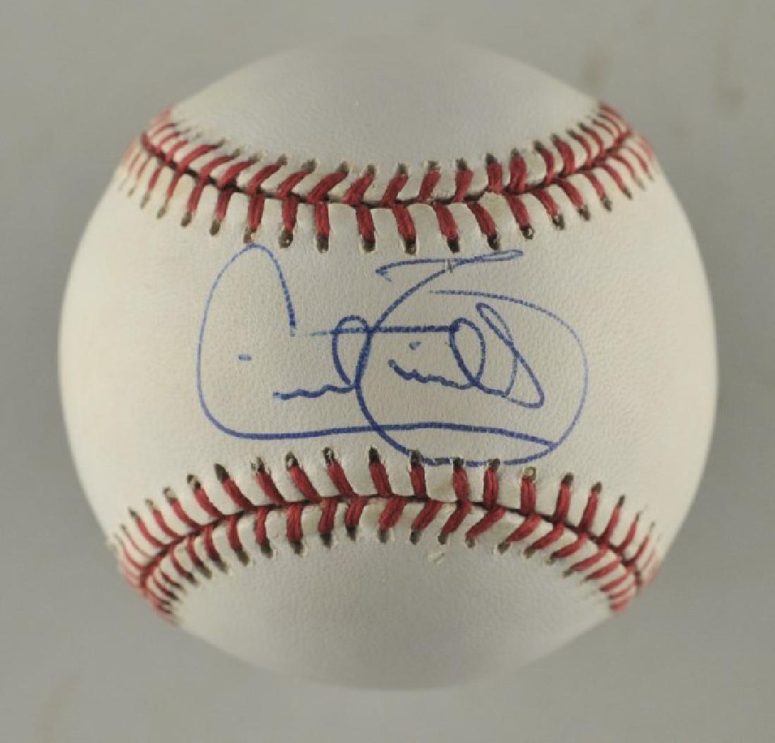 Signed Cecil Fielder Baseball