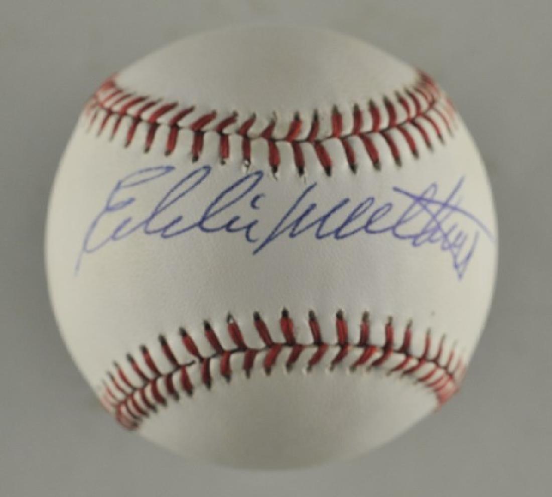 Signed Eddie Mathews Baseball