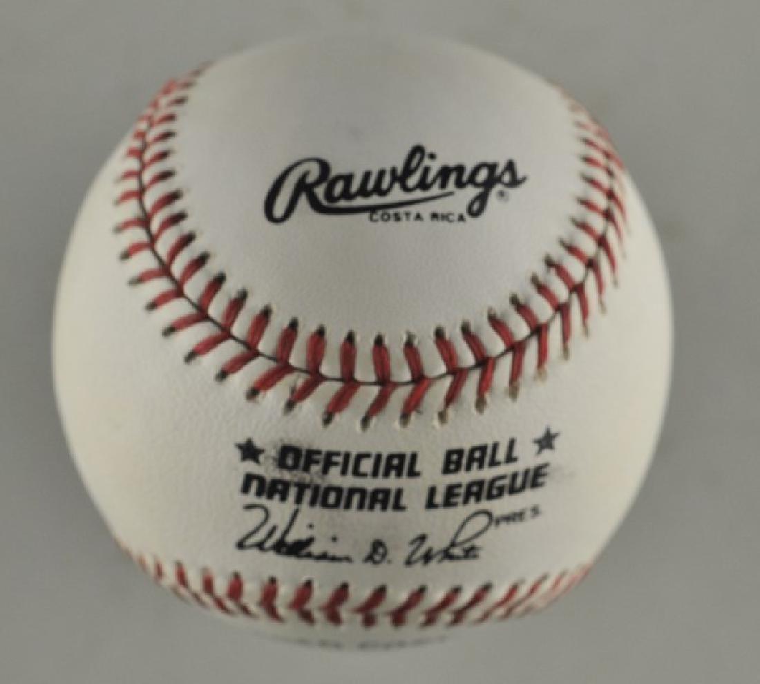 Signed Eddie Mathews Baseball - 2
