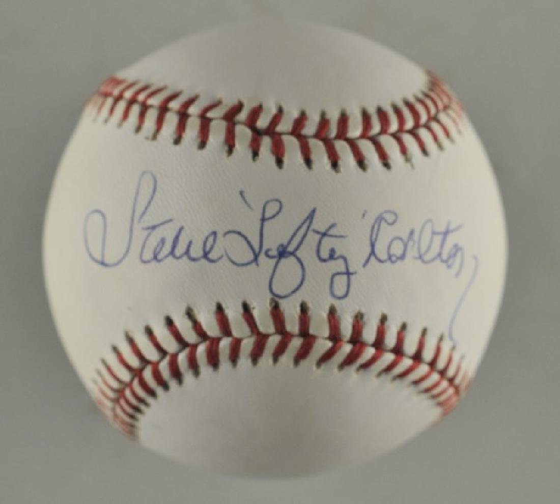 Signed Steve Carlton Baseball