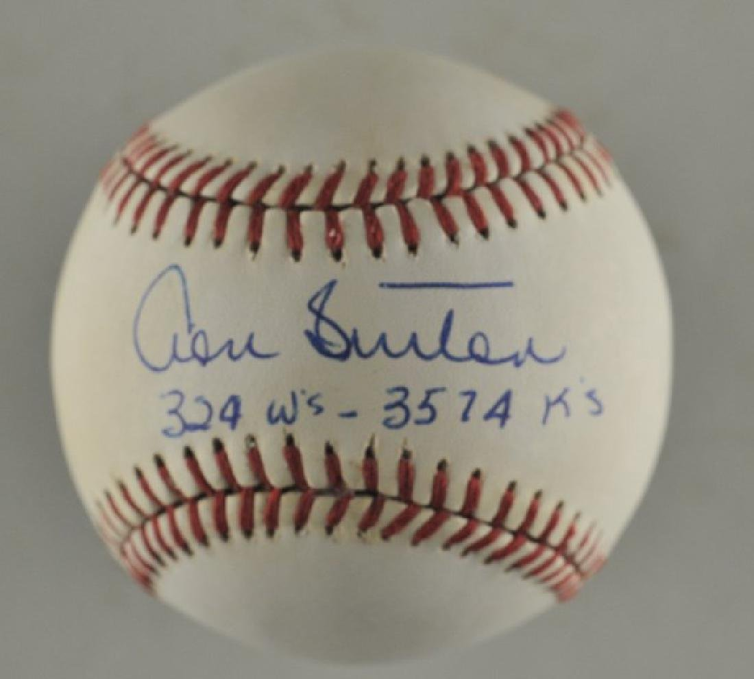 Signed Don Sutton Baseball