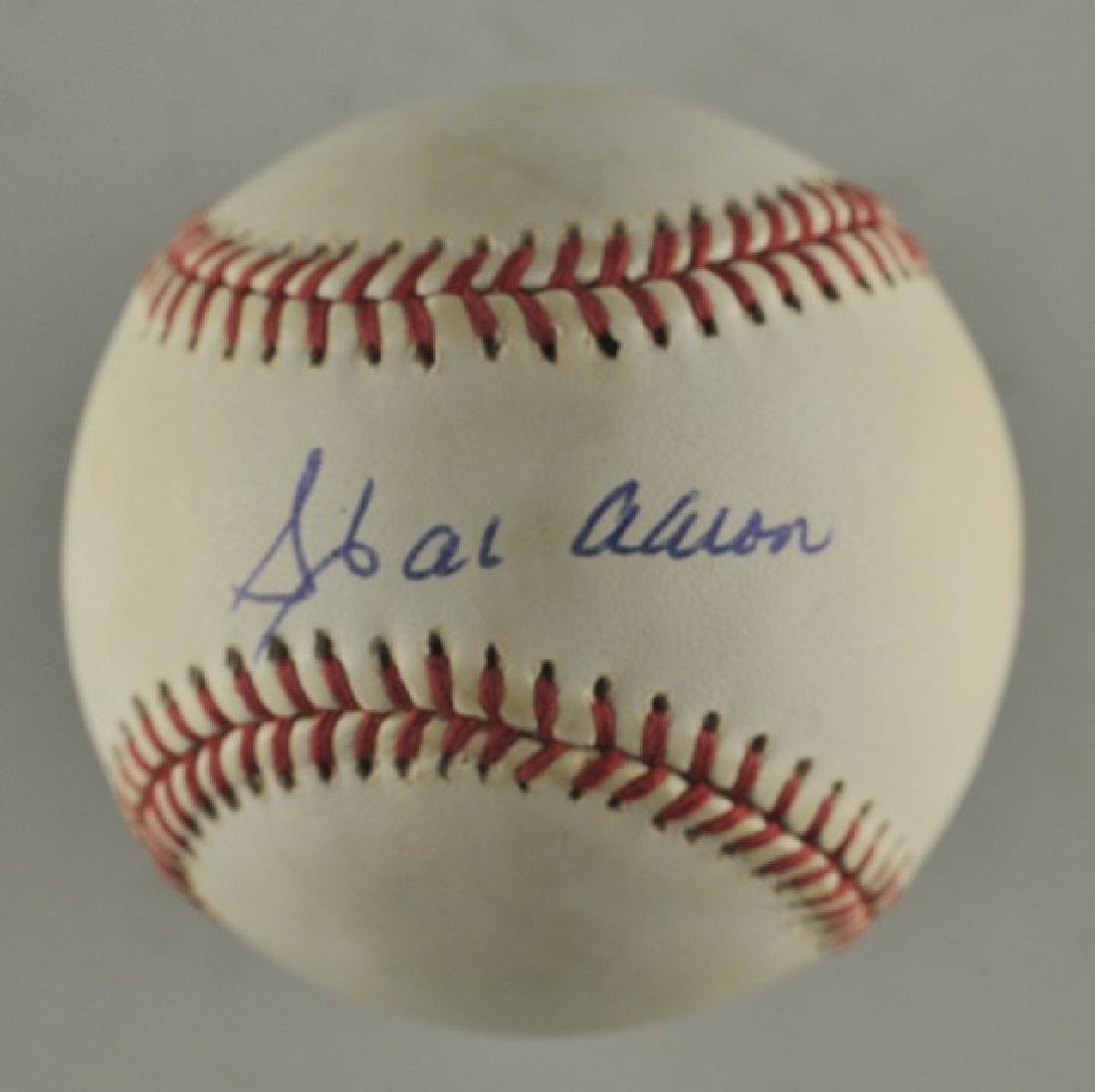 Signed Hank Aaron Baseball