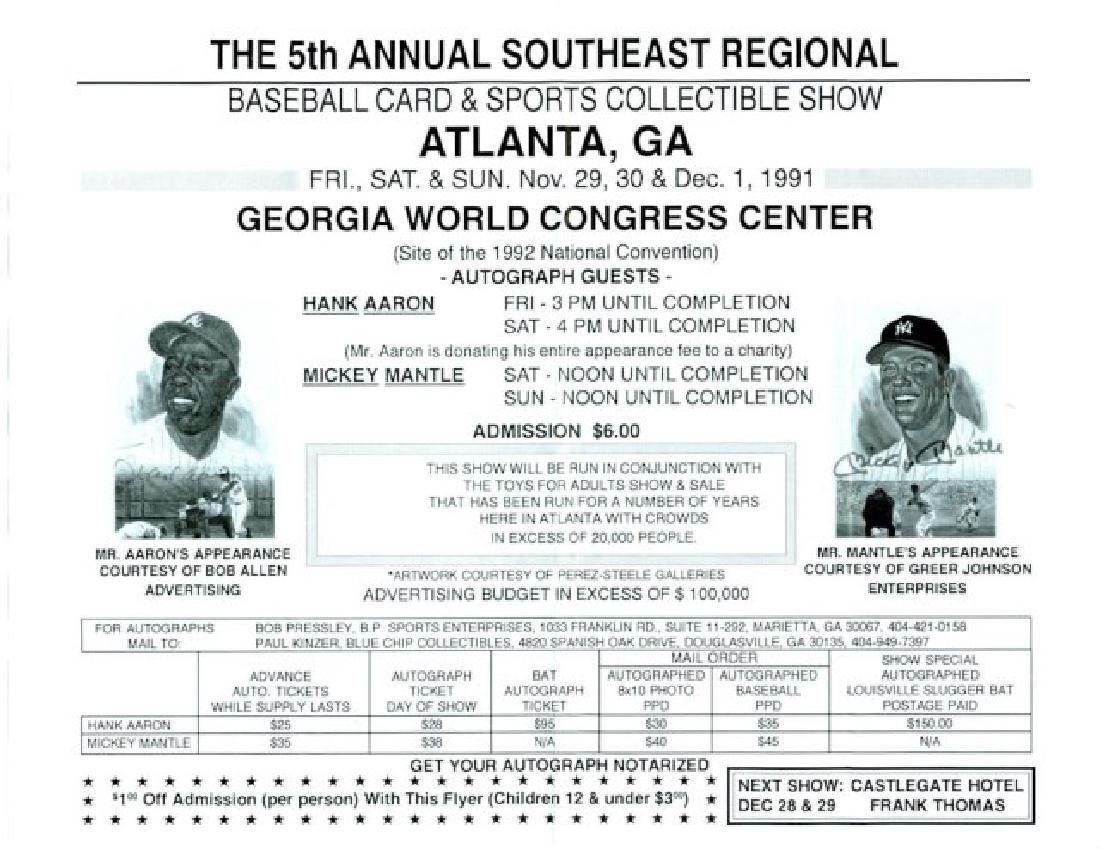 Signed Hank Aaron Baseball - 3