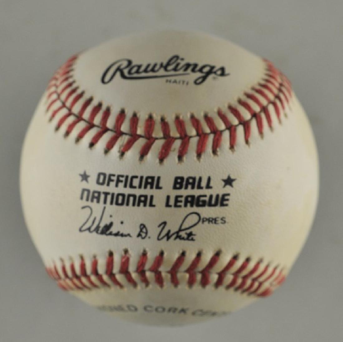 Signed Warren Spahn Baseball - 2