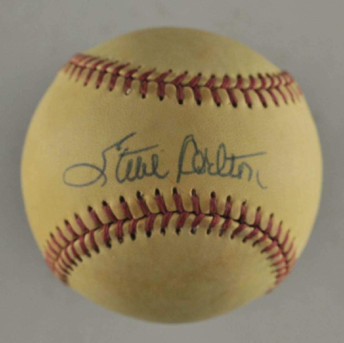 Signed Steve Carlton Baseball