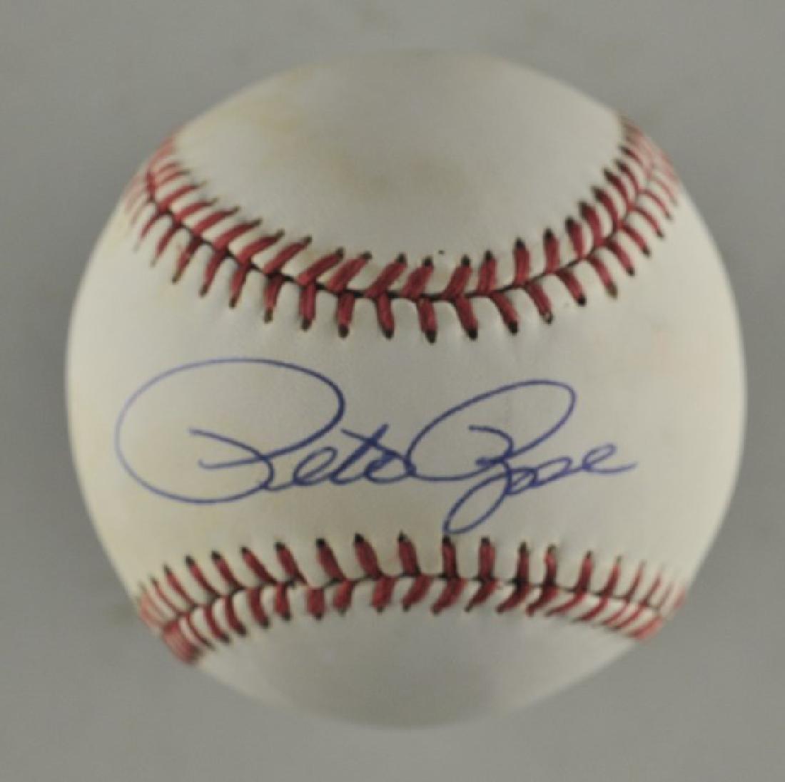 Signed Pete Rose Baseball