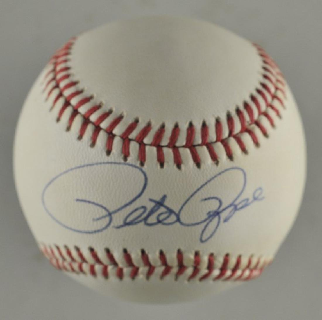 Signed Pete Rose Baseball