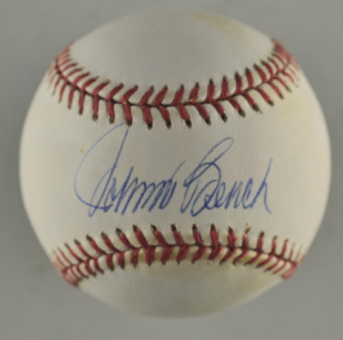 Signed Johnny Bench Baseball