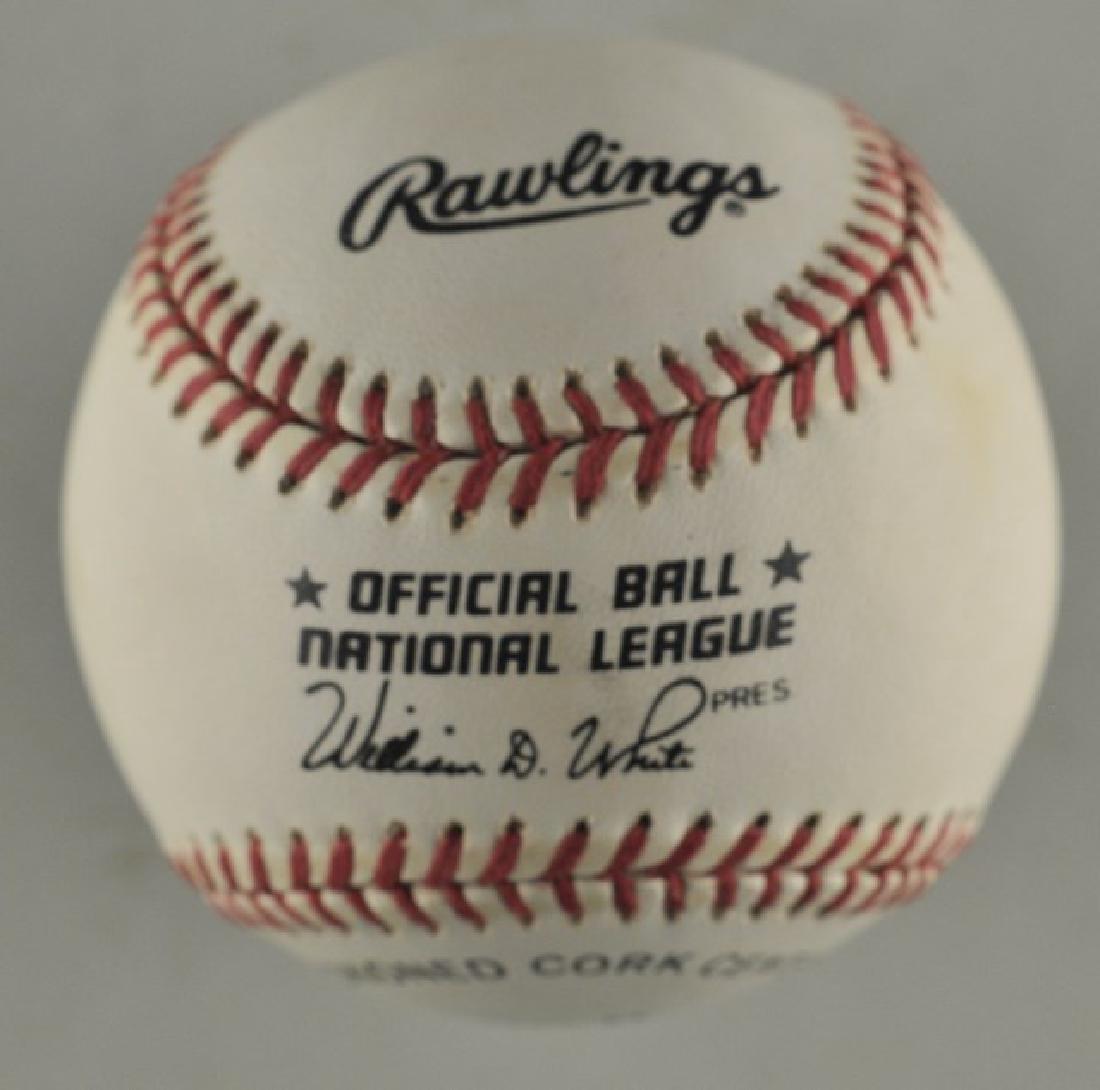 Signed Johnny Bench Baseball - 2