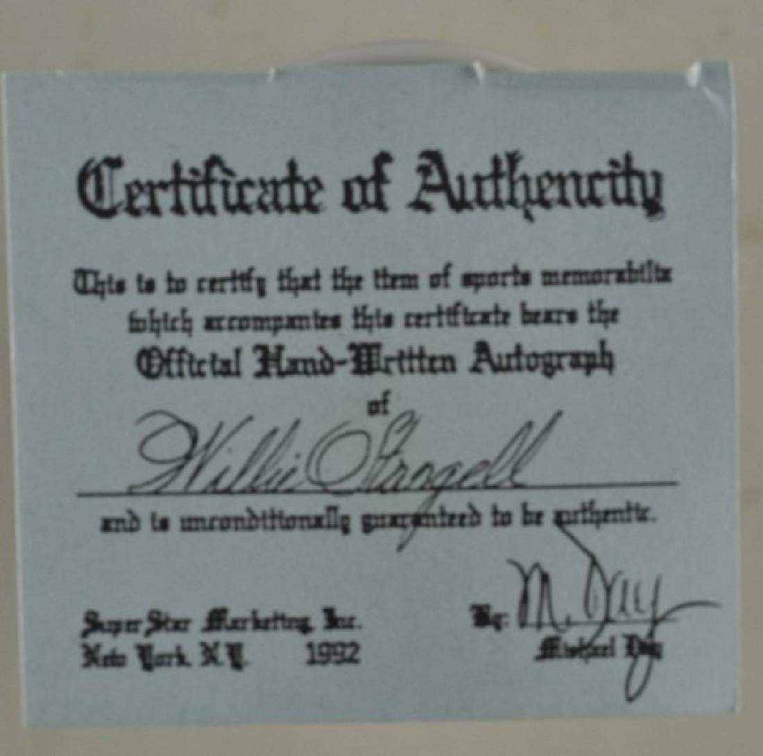 Signed Willie Stargell Baseball w/ COA - 3