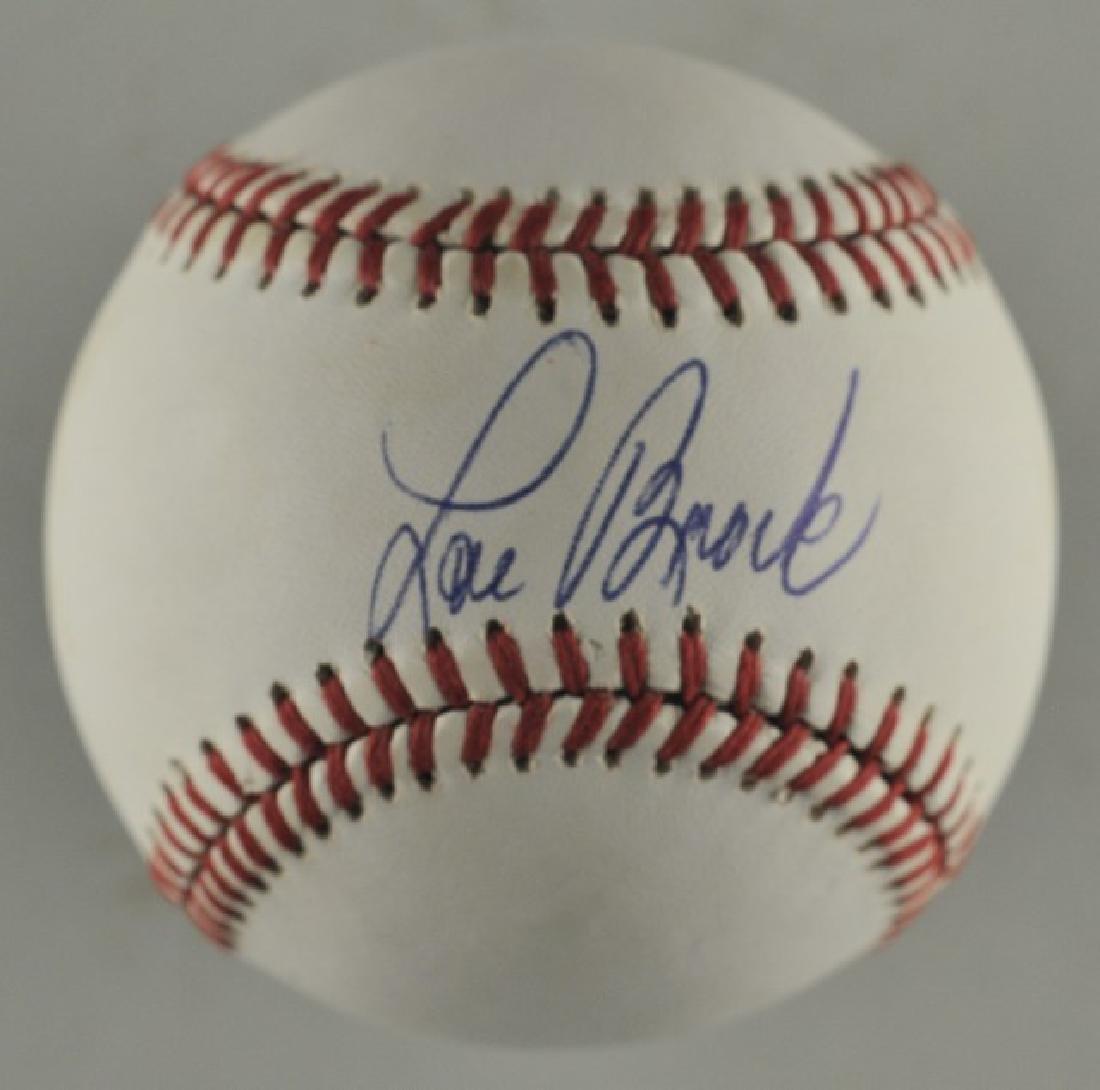 Signed Lou Brock Baseball