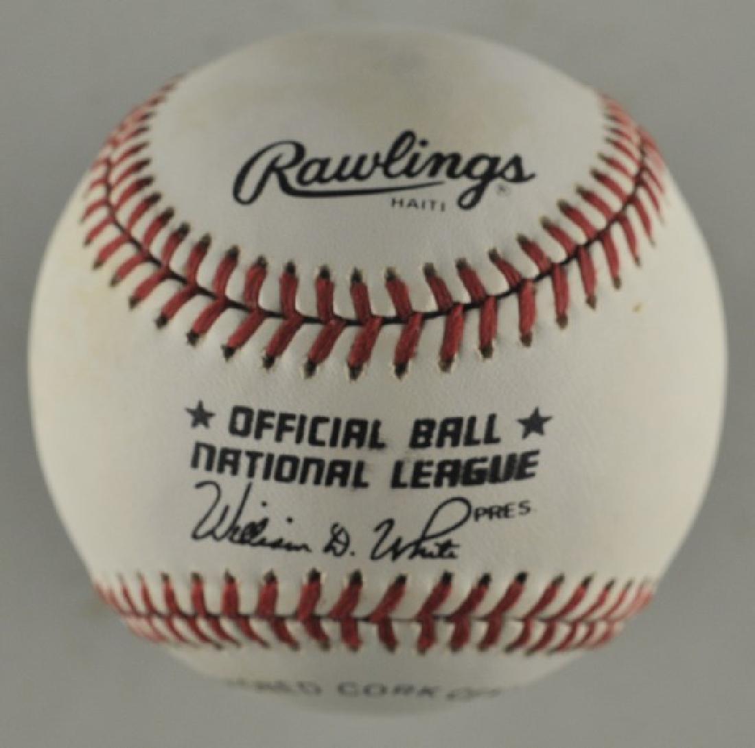 Signed Lou Brock Baseball - 2