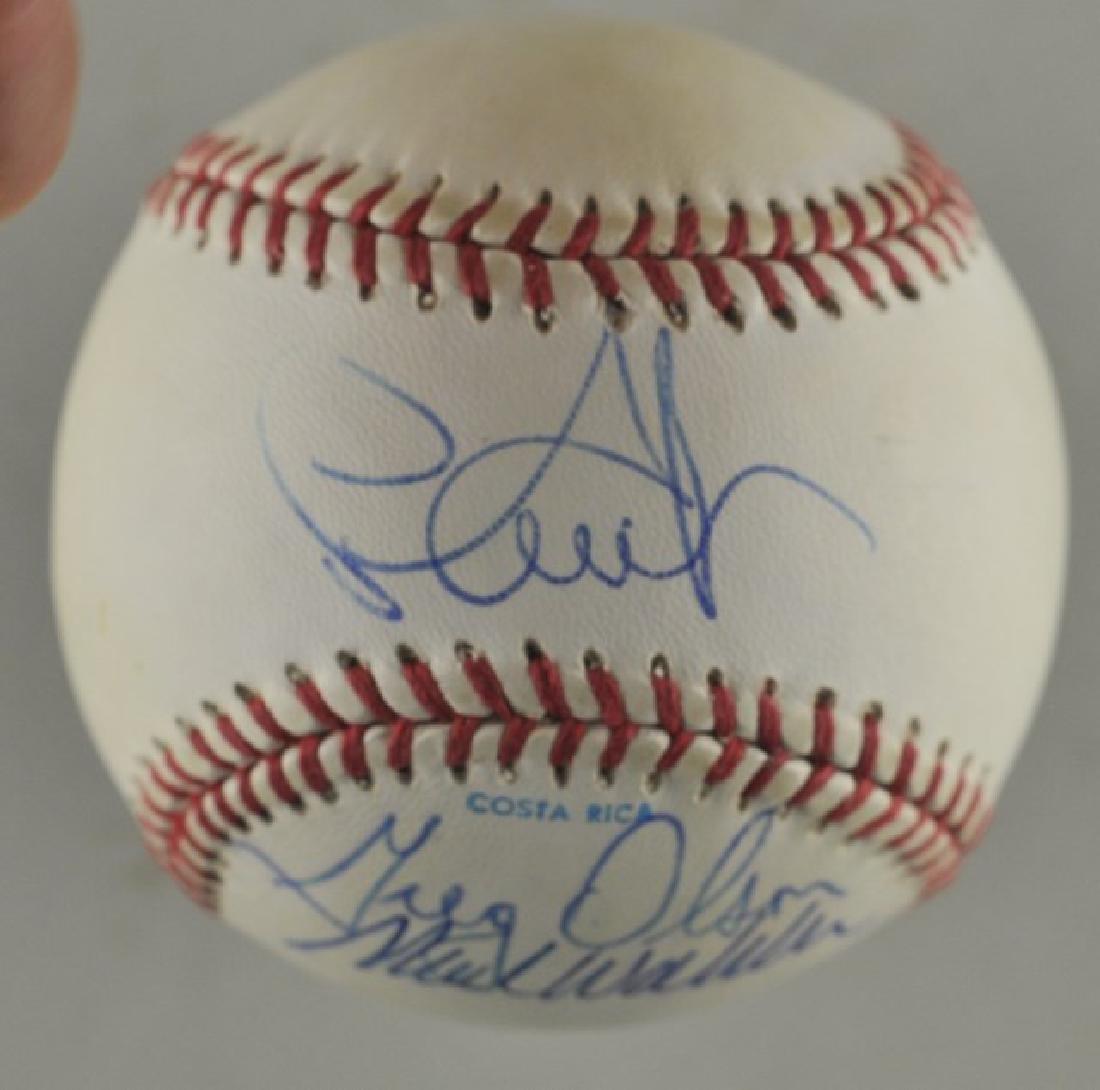 Signed 1991 Atl Braves World Series Baseball