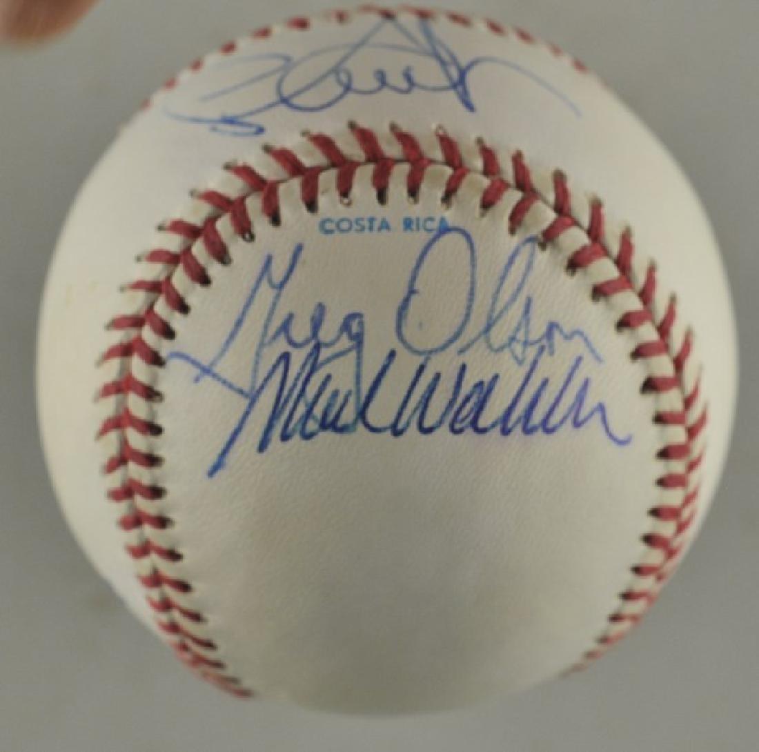 Signed 1991 Atl Braves World Series Baseball - 2