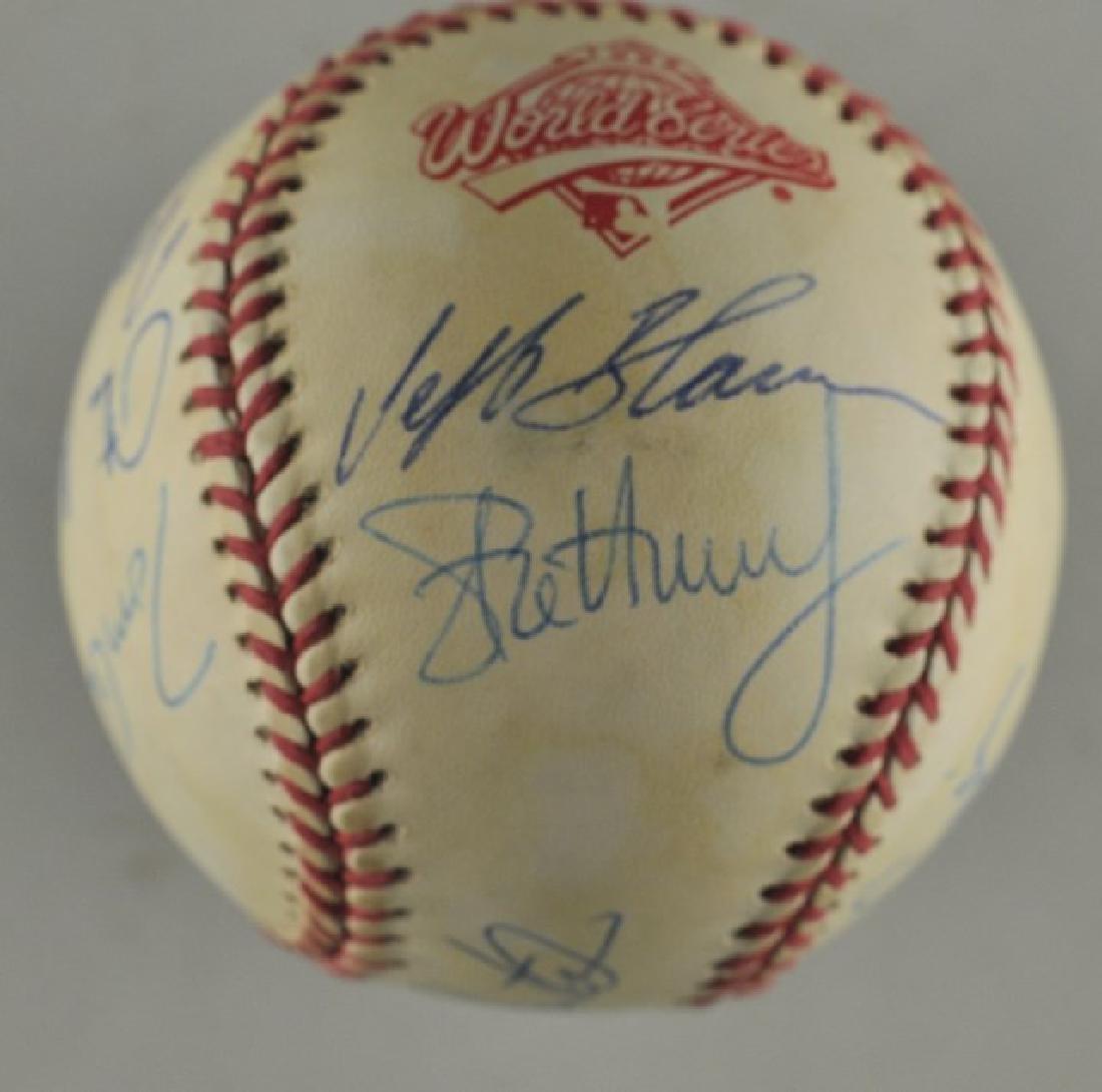 '92 Atlanta Braves World Series Signed Baseball - 4