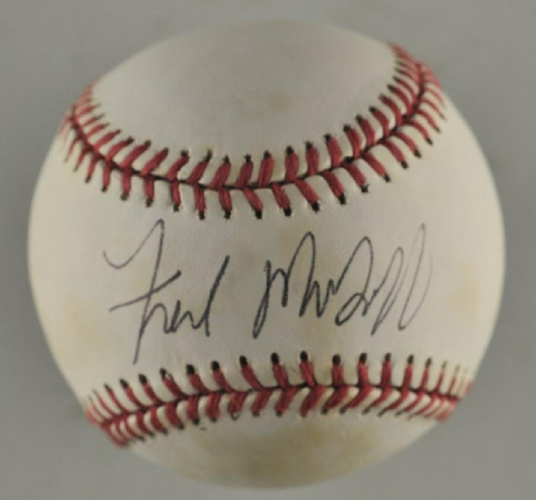 Signed Fred McGriff Baseball