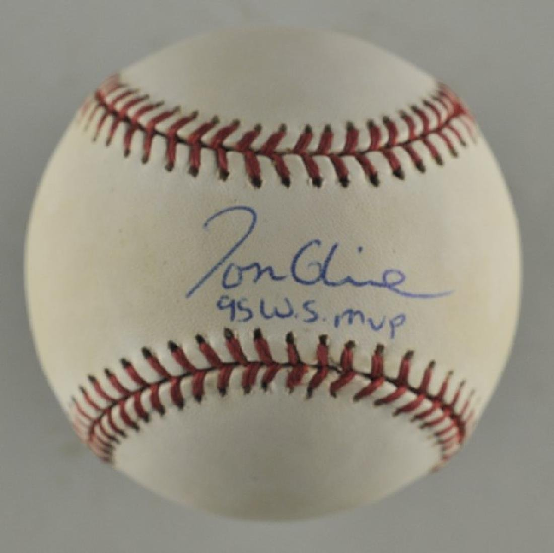 Signed Tom Glavine '95 WS MVP Baseball
