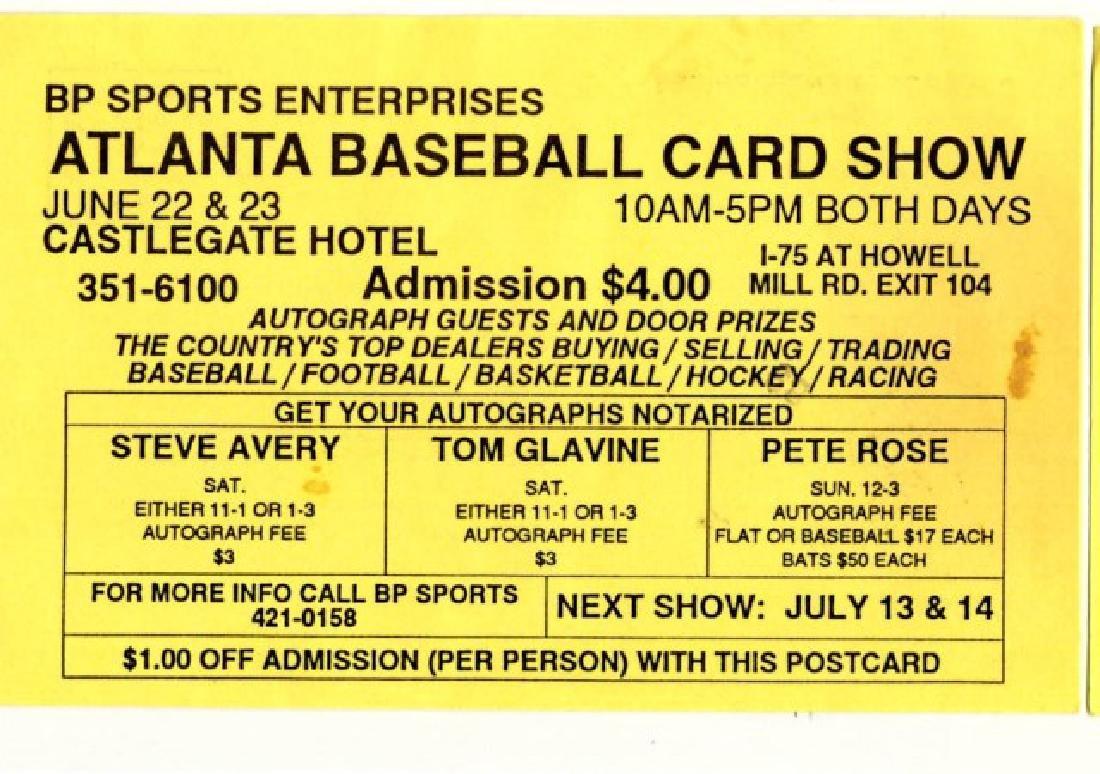Signed Tom Glavine Baseball - 3