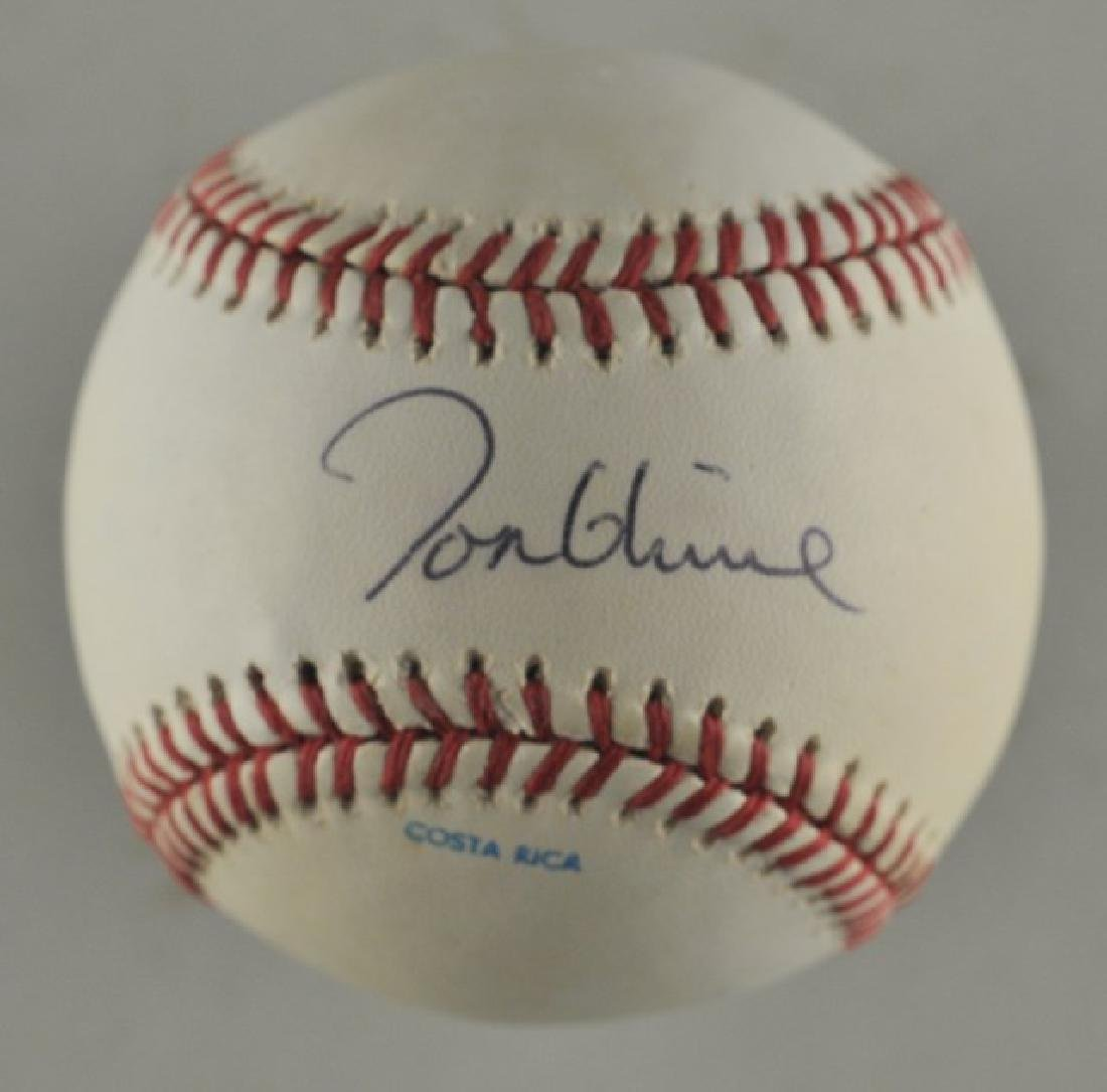 Signed Tom Glavine Baseball