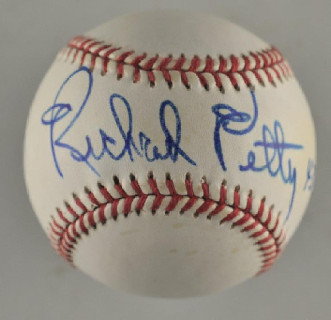 Signed Richard Petty 43 Baseball