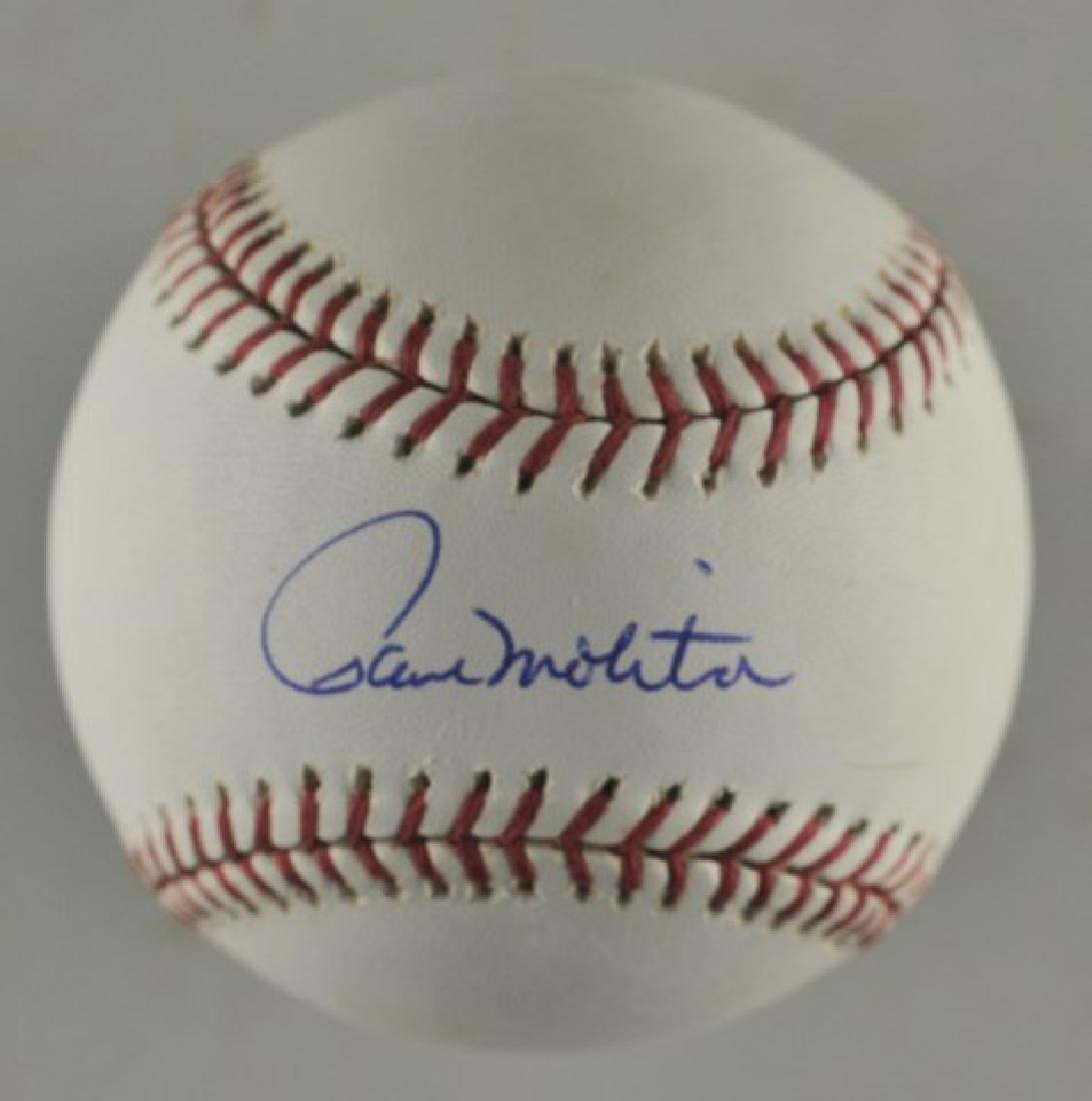 Signed Paul Molitor Baseball