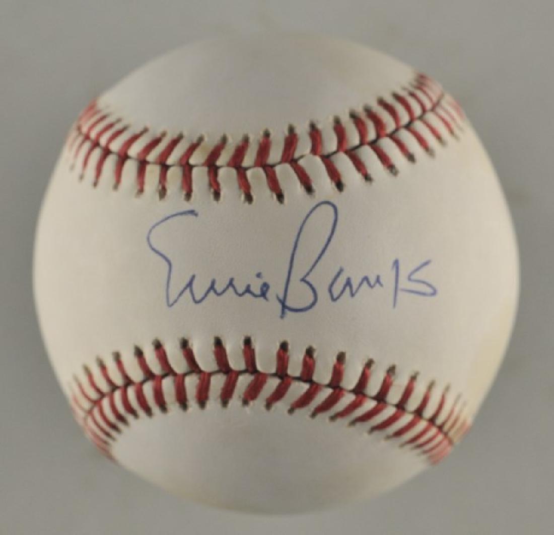 Signed Ernie Banks Baseball