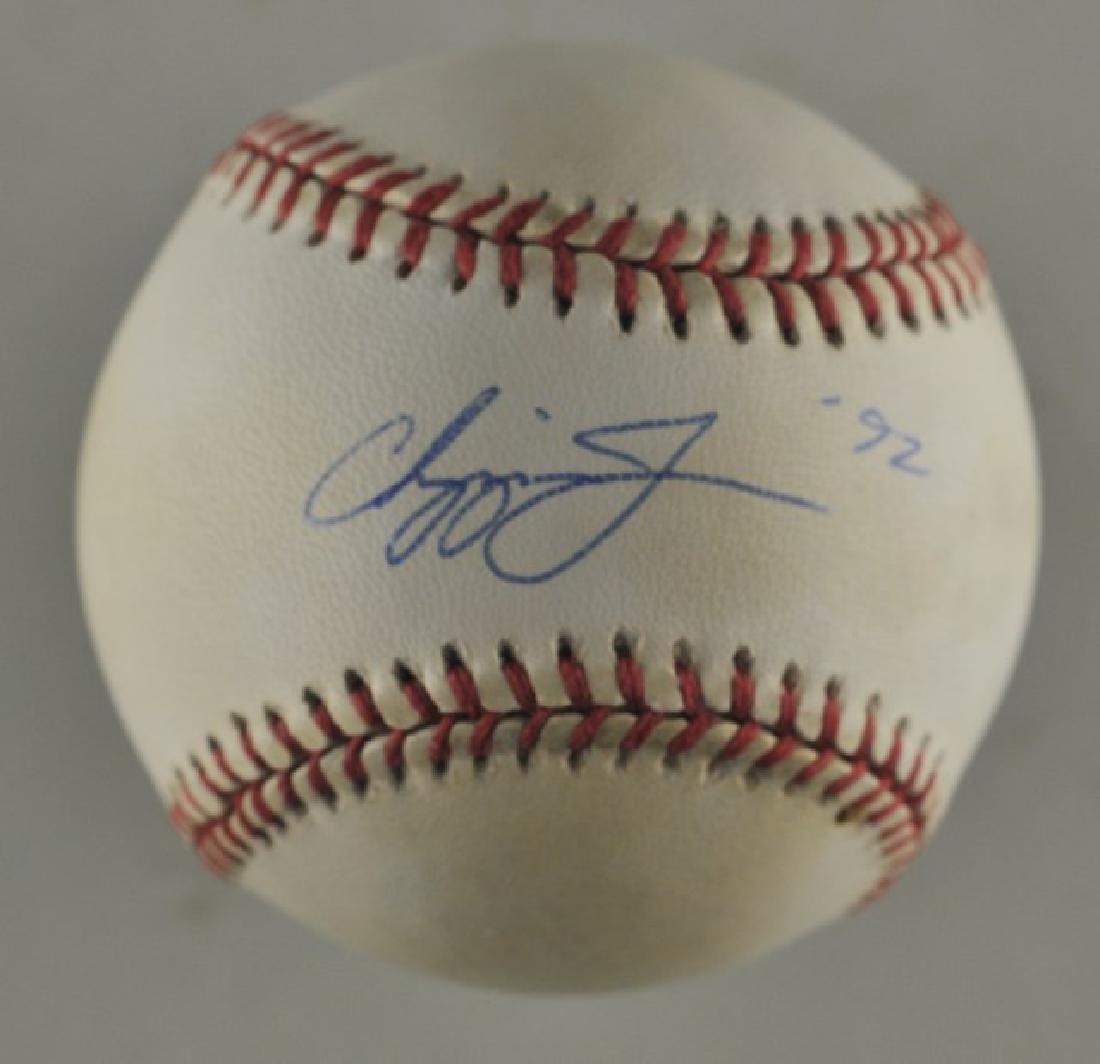 Signed Chipper Jones Baseball