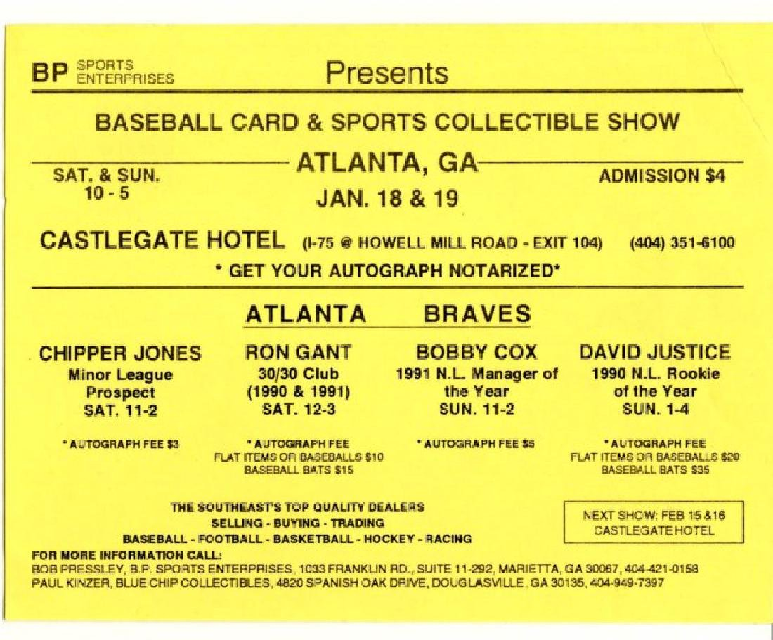 Signed Chipper Jones Baseball - 3