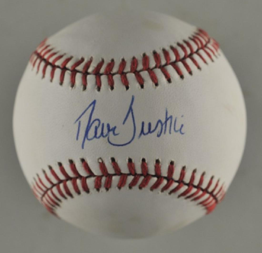 Signed David Justice Baseball