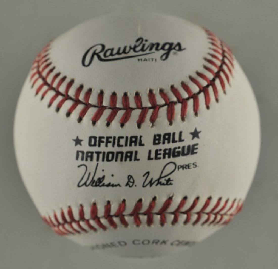 Signed David Justice Baseball - 2