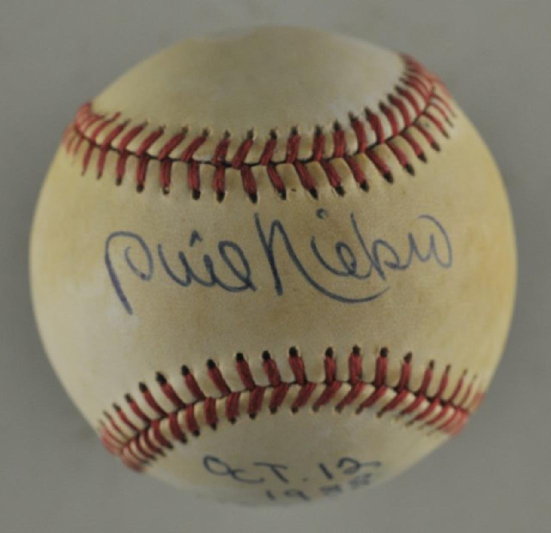 Signed Phil Niekro Baseball