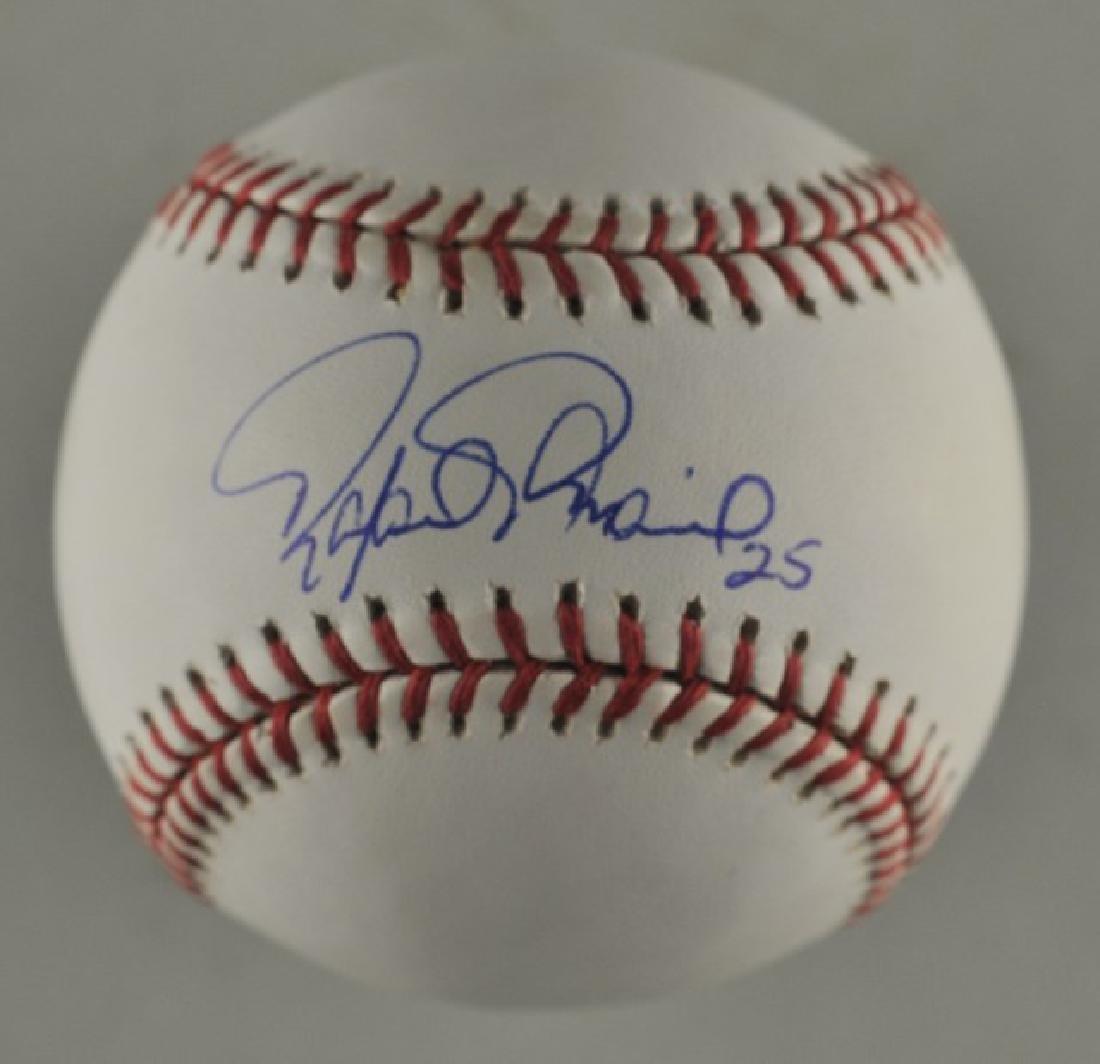 Signed Rafael Palmeiro Baseball
