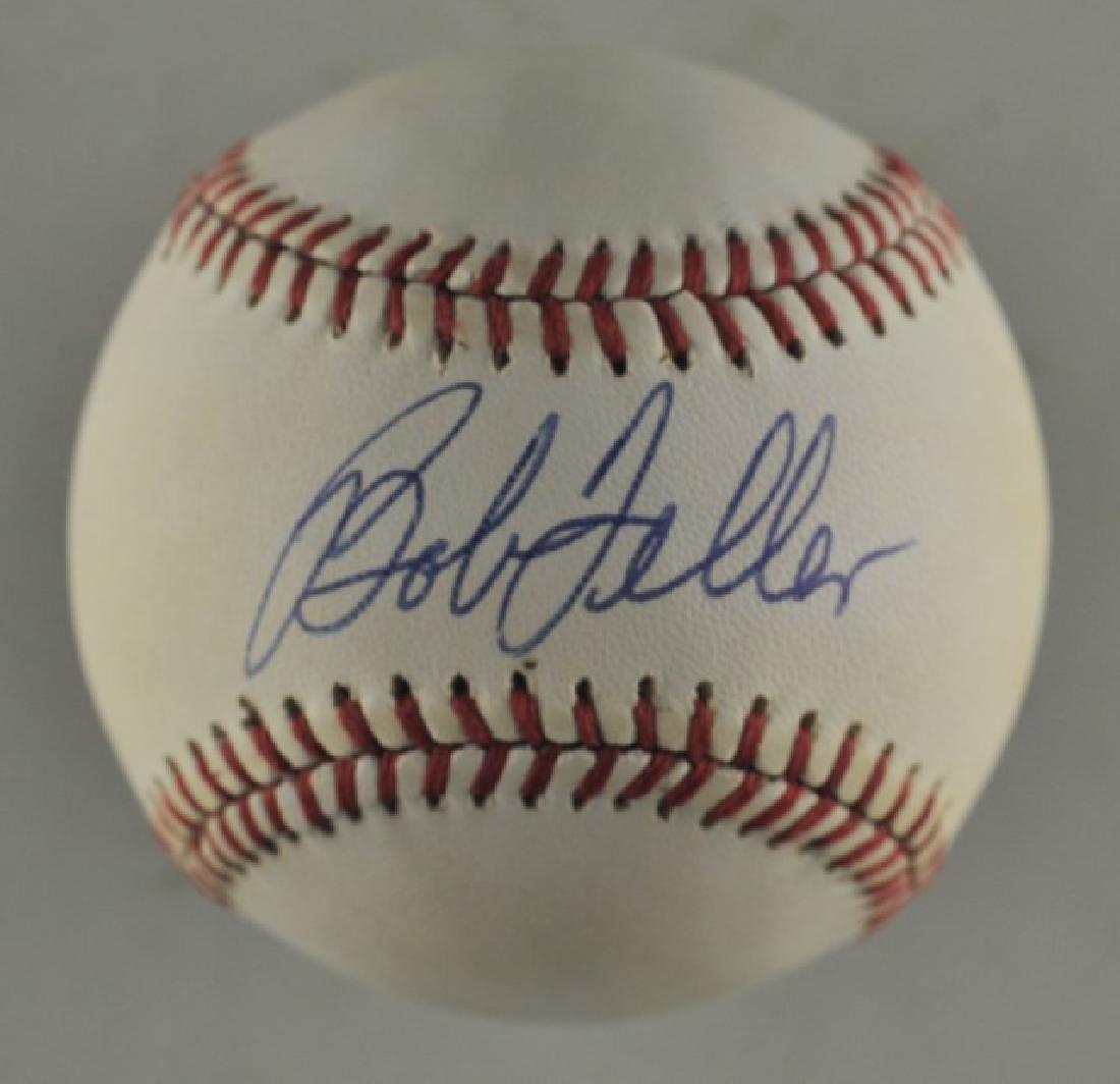 Signed Bob Feller Baseball