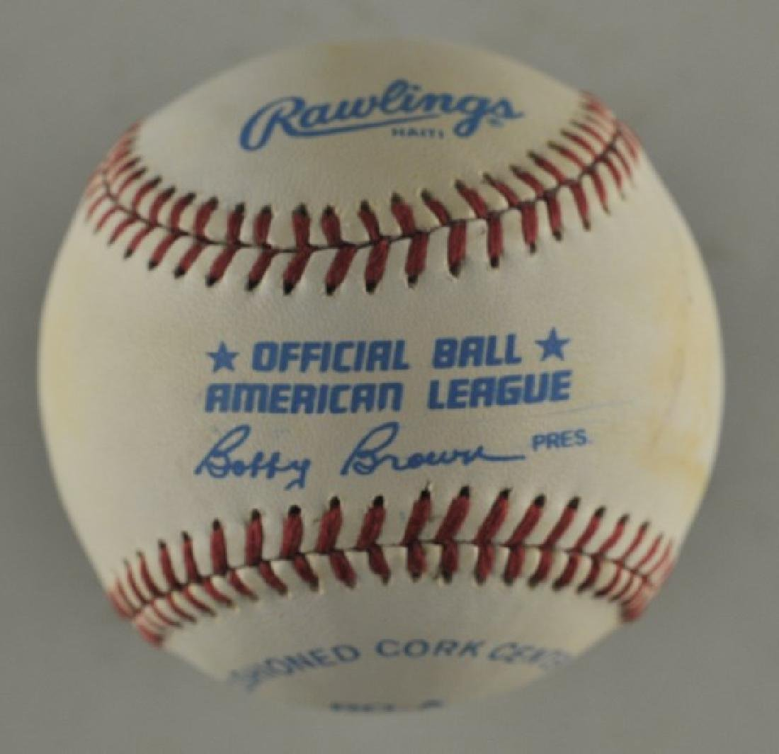 Signed Bob Feller Baseball - 2