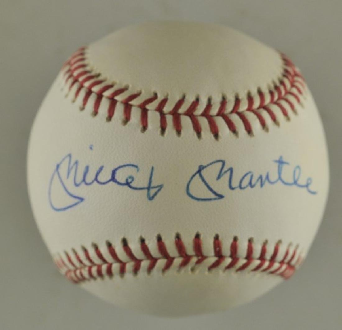 Signed Mickey Mantle Baseball
