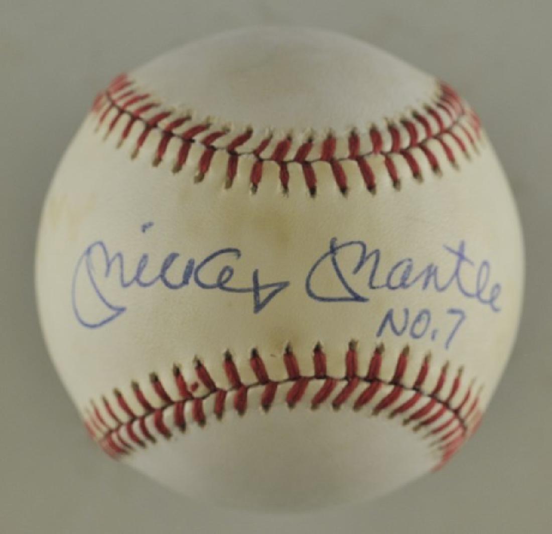 Signed Mickey Mantle Baseball