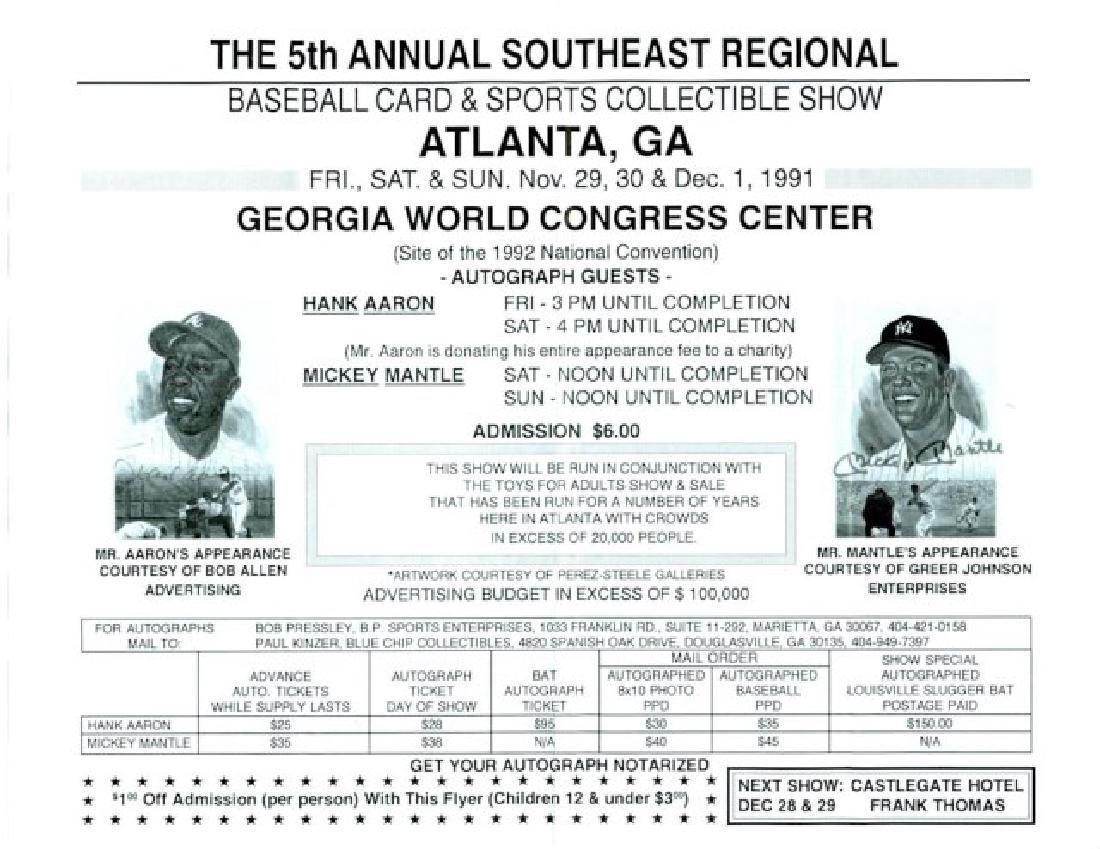 Signed Mickey Mantle Baseball - 3