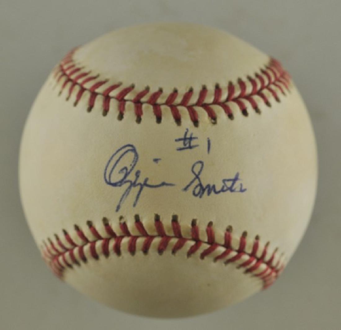 Signed Ozzie Smith Baseball