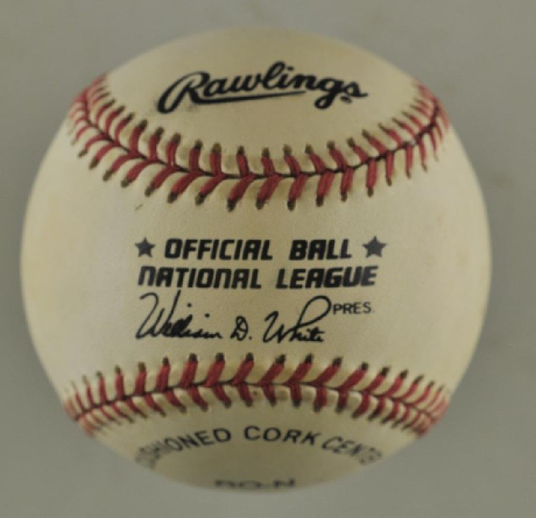 Signed Ozzie Smith Baseball - 2