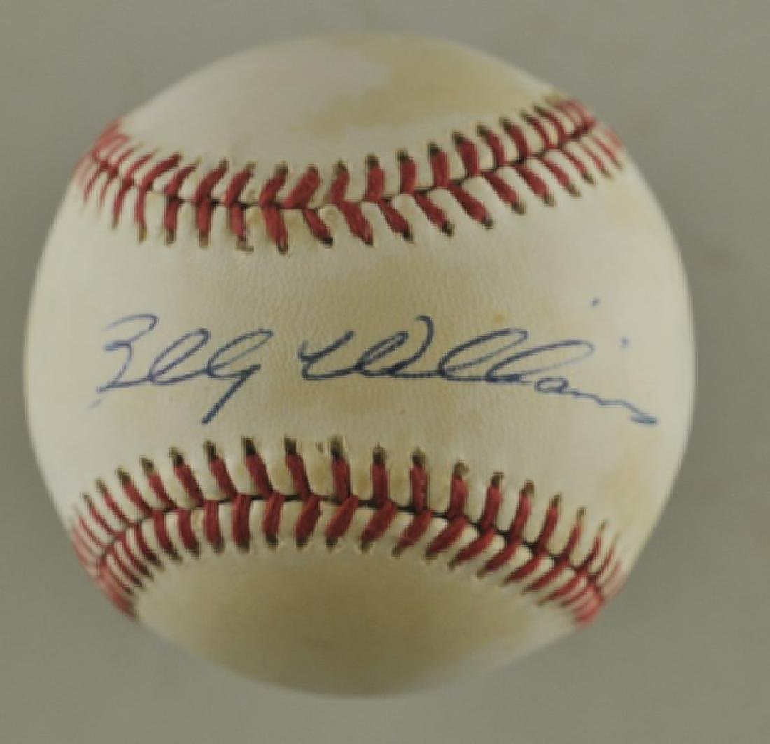 Signed Billy Williams Baseball