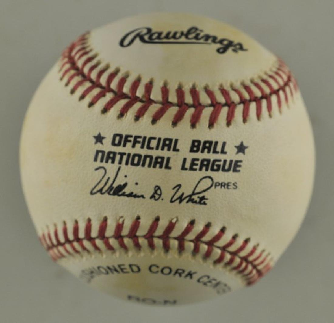 Signed Pedro Borbon Baseball - 2