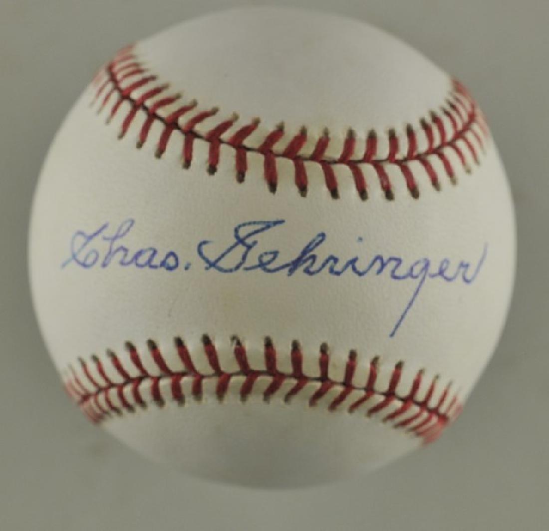 Signed Charlie Gehringer Baseball