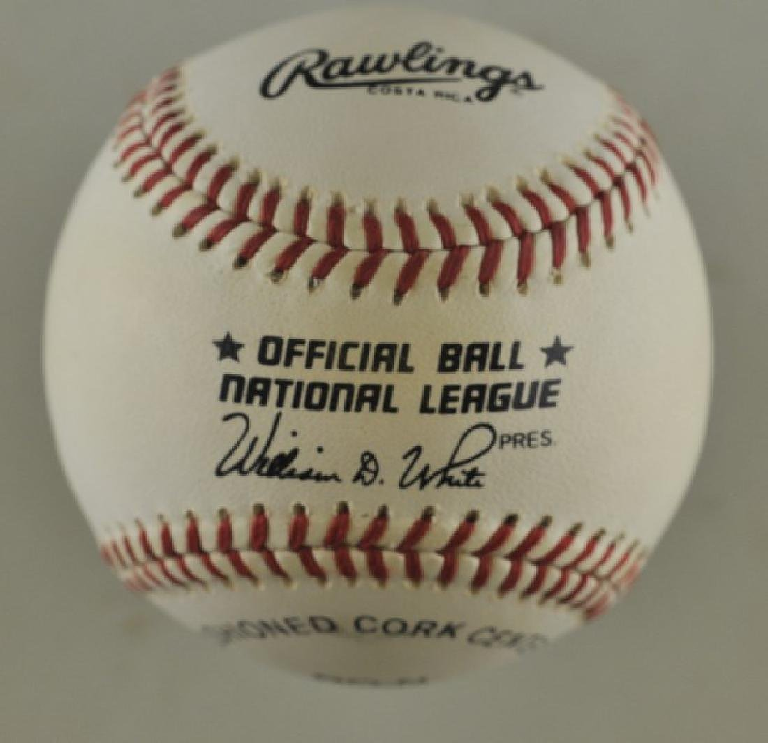 Signed Hank Aaron Baseball - 2