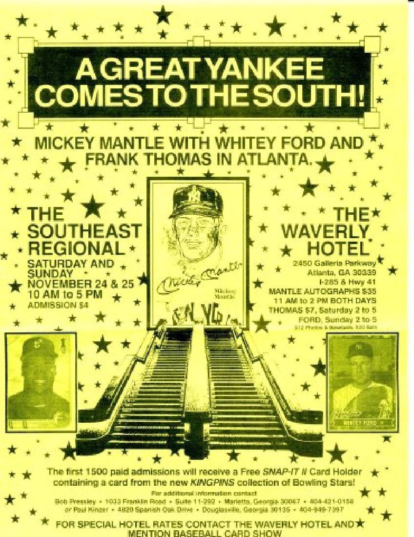 Signed Whitey Ford Baseball - 4