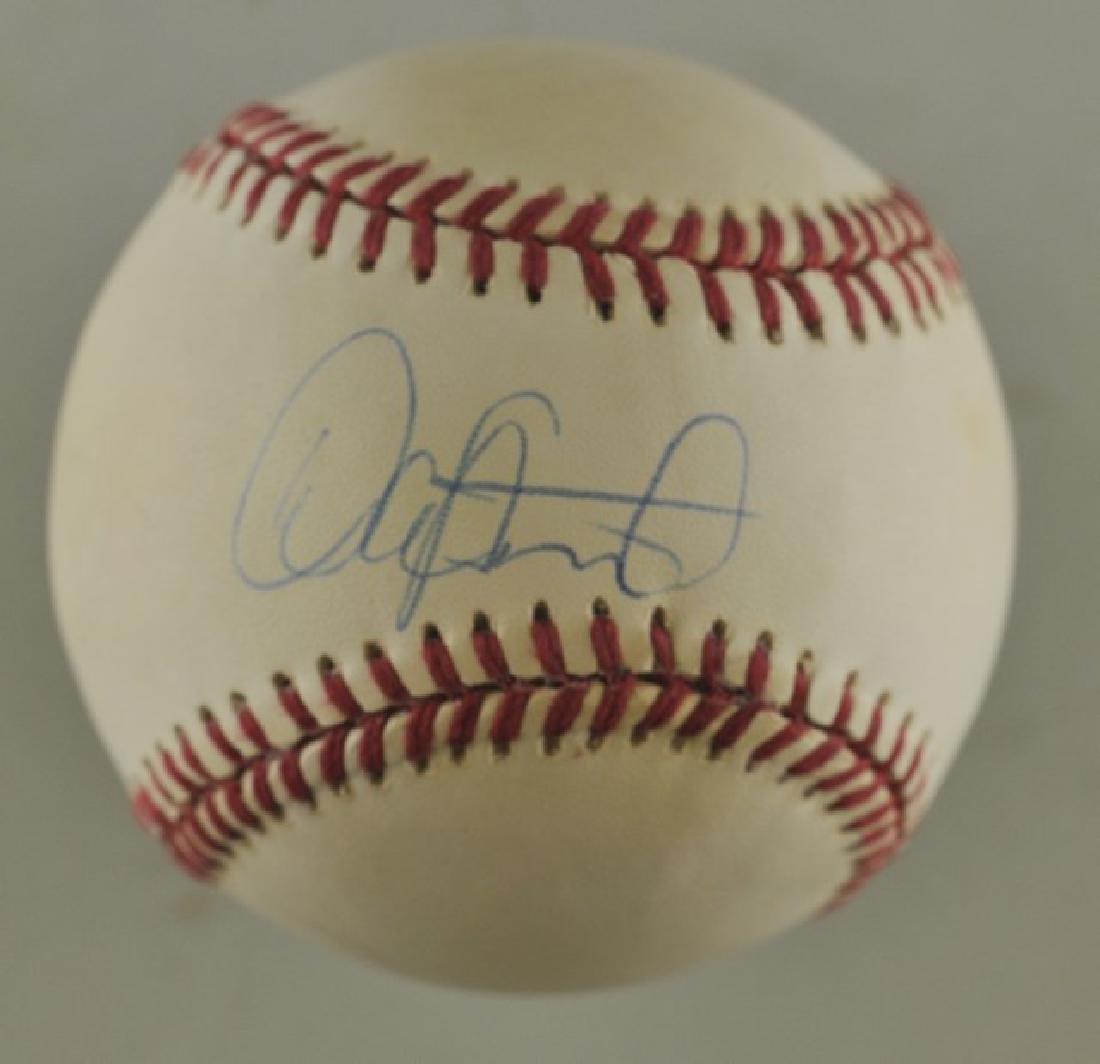 Signed Dave Stewart Baseball